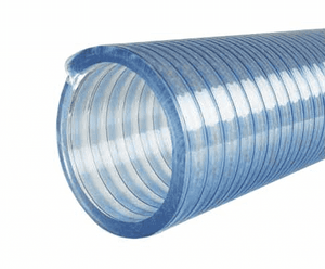 "3010-0400-100 Jason Industrial 3010 HD PVC FDA USDA 3-A Liquid Food Suction Hose - Clear - 43 PSI - 4"" ID - 4.53"" OD - 100ft"