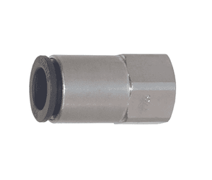 "30145314 Legris Nylon/Nickel-Plated Brass Push-In Fitting - Female Connector - 1/8"" Tube OD x 1/4"" Female NPT"