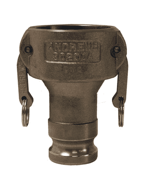 "3020-DA-MI Dixon 3"" x 2"" Unplated Iron Reducing Cam and Groove Coupler x Adapter"