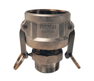 "3020-B-AL Dixon 3"" x 2"" 356T6 Aluminum Type B Reducing Female Coupler x Male NPT"