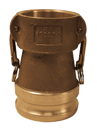 "3040-DA-BR Dixon 3"" x 4"" Brass Reducing Cam and Groove Coupler x Adapter"
