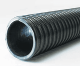 "3020-0400-100 Jason Industrial 3020 HD Polyurethane Lined, PVC Material Handling Hose - Black - 35 PSI - 4"" ID - 4.76"" OD - 100ft"