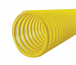 "3050-0400-100 Jason Industrial 3050 Polyurethane Gasoline & Alternative Fuel Vapor Recovery Hose - S-omega - Yellow/Clear - 4 PSI - 4"" ID - 4.57"" OD - 100ft"