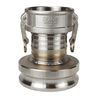 "4060-DA-SS Dixon 4"" x 6"" 316 Stainless Steel Reducing Cam and Groove Coupler x Adapter"