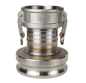 "3060-DA-SS Dixon 3"" x 6"" 316 Stainless Steel Reducing Cam and Groove Coupler x Adapter"