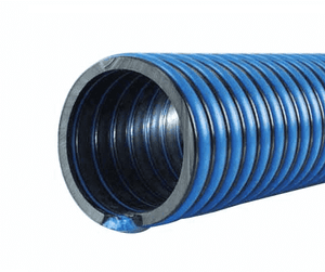 "3085-0400-100 Jason Industrial 3085 Oilfield Clean-up & Spill Recovery Hose - Blue/Black - 38 PSI - 4"" ID - 4.60"" OD - 100ft"