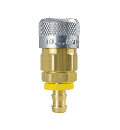 "310-1814 ZSi-Foster Quick Disconnect 310 Series 3/8"" Automatic Socket - 1/2"" ID - Push-On Hose Stem - Brass/Steel"