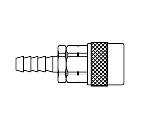 310222 Eaton 310 Series Female Socket - 3/8 Hose Stem End Connection Pneumatic Quick Disconnect Coupling - Steel