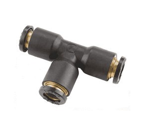 "31045500DOT Dixon Legris D.O.T. Push-In Fitting - Union Tee - 3/16"" Tube OD (Brass Body) (Pack of 10)"