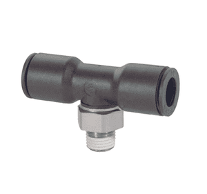 "31080411 Legris Nylon/Nickel-Plated Brass Push-In Fitting - Male Swivel Branch Tee - 5/32"" Tube OD x 1/8"" Male NPT (Pack of 10)"