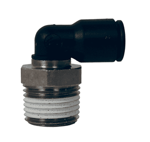 "31090613 Dixon Nickel-Plated Brass Metric Push-In Fitting - Male Swivel Elbow - 6mm Tube OD x 1/4"" Male BSPT (Pack of 10)"