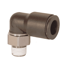 "31095620 Legris Nylon/Nickel-Plated Brass Push-In Fitting - Male Swivel Elbow - 1/4"" Tube OD x 10-32 Male UNF"