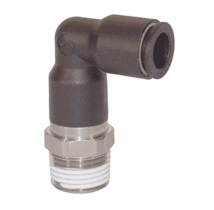 "31295614 Legris Nylon/Nickel-Plated Brass Push-In Fitting - Extended Male Swivel Elbow - 1/4"" Tube OD x 1/4"" Male NPT (Pack of 10)"