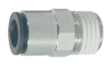 "31750413 Dixon Nickel-Plated Brass Metric Push-In Fitting - Male Connector - 4mm Tube OD x 1/4"" Male BSPT (Pack of 10)"