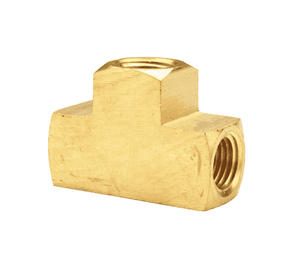 "322-0404 Dixon Brass Female Tee - Extruded - 1/4"" NPTF Thread"