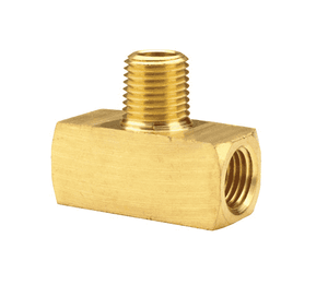 "324-0404 Dixon Brass Male Branch Tee - Extruded - 1/4"" NPTF Thread"