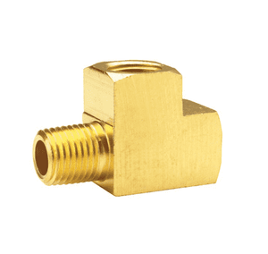 "326-0404 Dixon Brass Street Tee - Extruded - 1/4"" Female x Male NPTF"