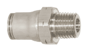 "38055614 Legris Stainless Steel Push-In Fitting - Straight Male Connector - 1/4"" Tube OD x 1/4"" Male NPT (Pack of 10)"