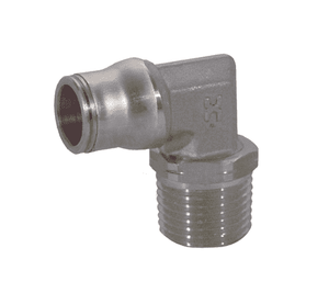 "38896222 Legris Stainless Steel Push-In Fitting - Male Swivel Elbow - 1/2"" Tube OD x 1/2"" Male NPT (Pack of 10)"