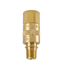 "3W375 ZSi-Foster ""Fost-Air"" 3-Way Sleeve Valve - 3/8"" Male NPT - Brass"