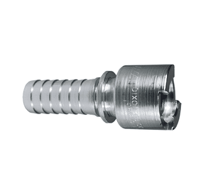 "4NS6 Dixon Steel N-Series Quick Disconnect 1/2"" Bowes Interchange Pneumatic Coupler - Hose Barb - 3/4"" Hose ID"