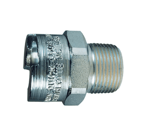 "3NM4 Dixon Steel N-Series Quick Disconnect 3/8"" Bowes Interchange Pneumatic Coupler - 1/2""-14 Male NPTF"