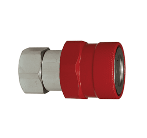 "10VEPF10-BOP Dixon Steel VEP-BOP Series Quick Disconnect 1-1/4"" Blowout Prevention Safety Hydraulic Coupler - 1-1/4""-11-1/2 NPTF"