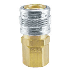 "BL4204 ZSi-Foster Quick Disconnect 1-Way Manual Socket - 3/8"" FPT - Female Thread - Ball Lock, Brass/Steel"