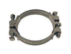 "525 Dixon Double Bolt Clamp with Saddles - Plated Iron - Hose OD Range: 4-16/64"" to 4-60/64"""