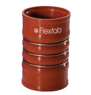 4076-0001 FlexFab 4-ply Heavy Wall Charge Air Connector (CAC) Hot Side - 2.50'' ID - 2.73'' OD - Red - 6''