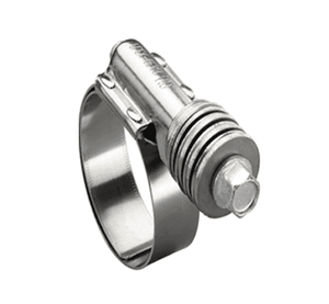 "4560051 Ideal Tridon Flex-Gear® HD 45 Series - Spring Clamp - 300 Stainless Steel - 5/8"" Band Width - Clamp Range: 5-1/4"" to 6-1/8"" - Pack of 10"