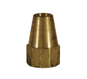 "41FL-6 Dixon Brass SAE 45 deg. Flare Fitting - Long Nut - 3/8"" Tube Size x 5/8""-18 Straight Thread"