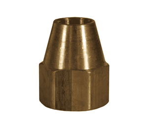 "41FS-4 Dixon Brass SAE 45 deg. Flare Fitting - Short Nut - 1/4"" Tube Size x 7/16""-20 Straight Thread"