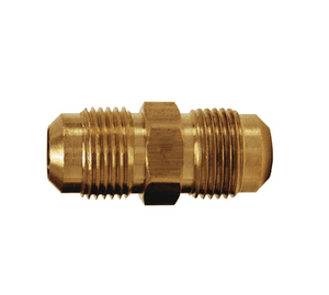 "42F-4 Dixon Brass SAE 45 deg. Flare Fitting - Union - 1/4"" Tube Size x 7/16""-20 Straight Thread"