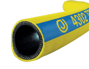 "4302-0100-050 Jason Industrial 4302 Textile Reinforced Air Hose - Bright Yellow - 400 PSI - 1"" ID - 1.46"" OD - 50ft"