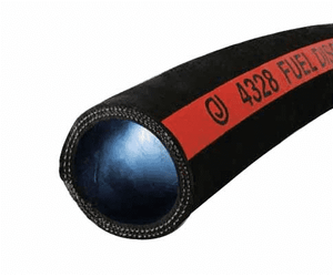 "4328-0200-100 Jason Industrial 4328 Nitrile Fuel Discharge Hose - Black - 300 PSI - 2"" ID - 2.64"" OD - 100ft"