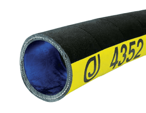 "4352-0400-100 Jason Industrial 4352 Rubber 2-Ply Water Discharge Hose - Black - 150 PSI - 4"" ID - 4.37"" OD - 100ft"