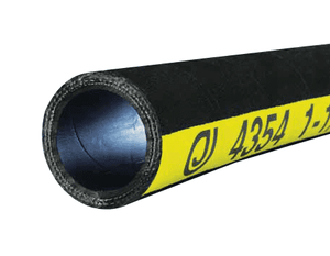 "4354-0300-100 Jason Industrial 4354 Rubber 4-Ply Water Discharge Hose - Black - 225 PSI - 3"" ID - 3.58"" OD - 100ft"