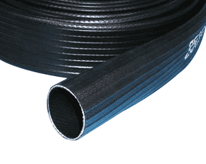 "4359-0400-100 Jason Industrial 4359 Nitrile/PVC Oil Resistant Discharge Hose - Black - 200 PSI - 4"" ID - 0.110"" Wall Thickness - 100ft"