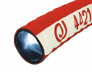 "4421-0200-100 Jason Industrial 4421 Tank Truck Hose - Red Corrugated - 150 PSI - 2"" ID - 2.48"" OD - 100ft"