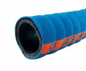 "4433-0100-100 Jason Industrial 4433 UHMWPE Chemical Suction Hose - Blue - 200 PSI - 1"" ID - 1.46"" OD - 100ft"