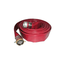 "4504-3000-050AB Jason Industrial 4504 Wine Red PVC Water Discharge Hose Assembly - 100 PSI - 3"" ID - 3"" AB Pin Lug (M x F) - 50ft"