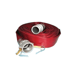 "4504-2000-050CE Jason Industrial 4504 Wine Red PVC Water Discharge Hose Assembly - 115 PSI - 2"" ID - 2"" Aluminum Cam Lock (C x E) - 50ft"