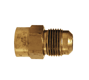 "46F-8-4 Dixon Brass SAE 45 deg. Flare Fitting - Female Connector - 1/2"" Tube Size x 1/4"" Pipe Size"