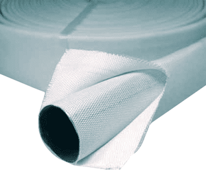 "4703-2501 Jason Industrial 4703 Heavy Duty Double Jacket (DJ) Mill Discharge Hose - White - 300 PSI Serv. Press. - 2-1/2"" ID - 2.81"" Bowl - 100ft"
