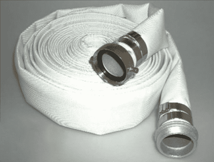 "4705-0150-050AB Jason Industrial 4705 Municipal Grade Single Jacket (SJ) Mill Discharge Hose Assembly - White - 230 PSI - 1-1/2"" ID - M x F AB Pin Lug w/ 5/8"" Bands - 50ft"