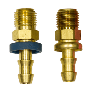 4740-4B Male SAE 45 Degree Inverted Flare SOCKETLESS Brass Fitting - Brass
