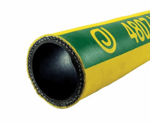 "4807-0200-100 Jason Industrial 4807 Hi-Temp Air Hose - Wire Reinforced - Bright Yellow - 600 PSI - 2"" ID - 2.48"" OD - 100ft"