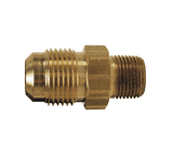 "48F-8-4 Dixon Brass SAE 45 deg. Flare Fitting - Male Connector - 1/2"" Tube Size x 1/4"" Pipe Size"