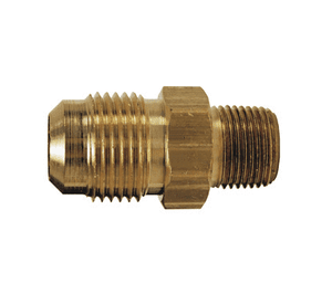 "48F-8-6 Dixon Brass SAE 45 deg. Flare Fitting - Male Connector - 1/2"" Tube Size x 3/8"" Pipe Size"
